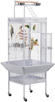 BEST WHITE LARGE BIRD CAGE WITH STAND