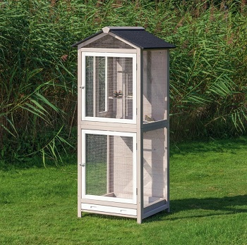 BEST WITH STAND BIG WOODEN BIRD CAGE