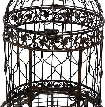 Benzara Victorian Style Bird Cage