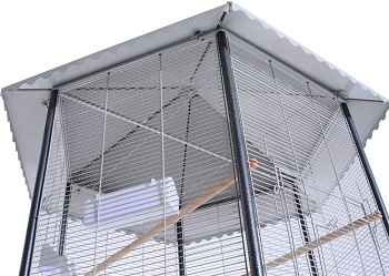 PawHut 44 Hexagon Covered Canopy Cage