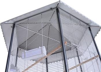 PawHut 44 Hexagon Covered Canopy
