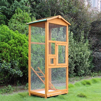PawHut 65 Large Wooden Vertical Aviary