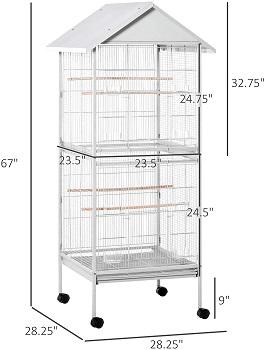 PawHut Wrought Metal Bird Cage