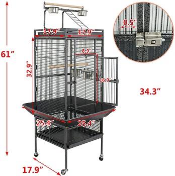 Super Deal Pro Large Bird Cage