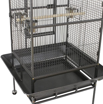 Superdeal Pro Large Rolling Bird Cage