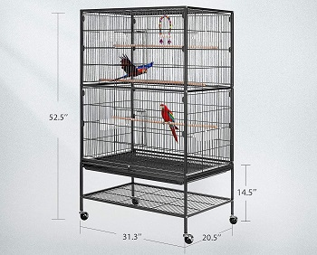 Vivohome 53-in Rolling Cage