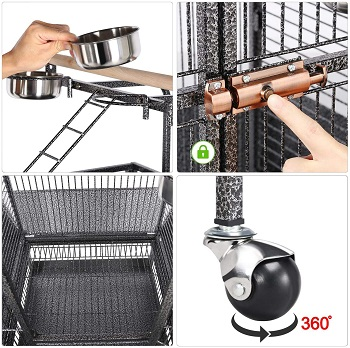 Yaheetech 61-inch Playtop Cage