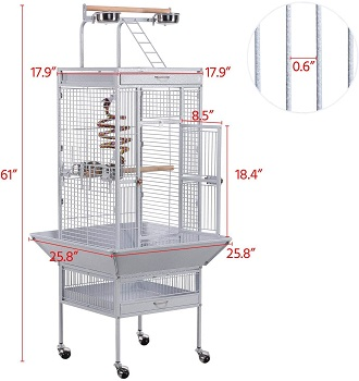 Yaheetech 61-inch Wrought Iron Cage