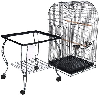Yaheetech Rolling Standing Bird Cage