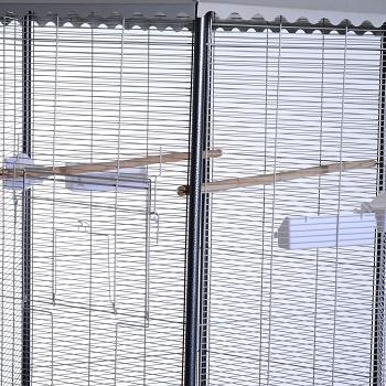 pawhut aviary flight bird cage