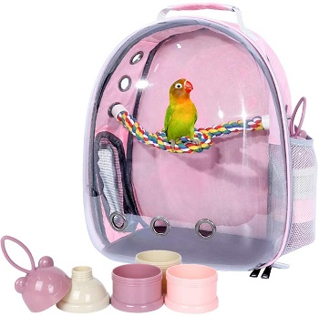 BEST AIRLINE APPROVED BIRD BACKPACK WITH PERCH