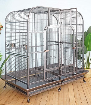 BEST ANTIQUE DOUBLE MACAW CAGE