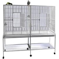 BEST DIVIDER DOUBLE PARROT CAGE Sumary