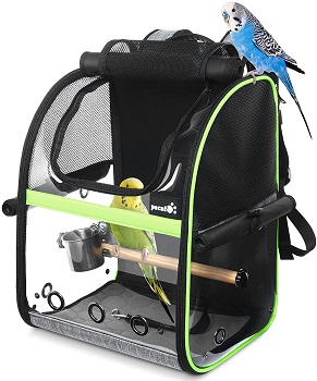 BEST OF BEST BIRD BACKPACK WITH PERCH