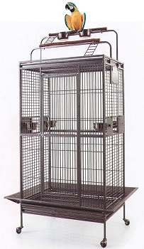 BEST ON WHEELS PARROT CAGE WITH PLAYTOP