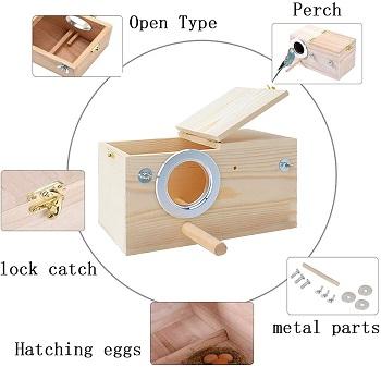 Kathson Cockatiel Nesting Box