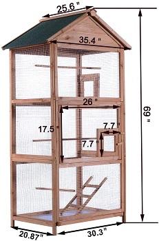 MCombo 70 inch Outdoor Aviary
