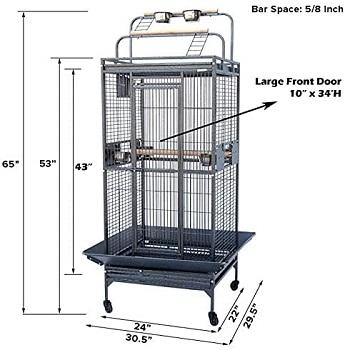 Mcage Elegant Playtop Bird Cage