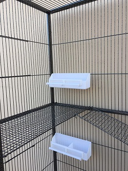 Mcage Large Double Stack Bird Cage