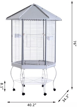 PawHut 44 Hexagon Covered Cage