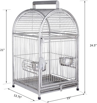 """Pawhut 25"""" Dome Top Cage"""