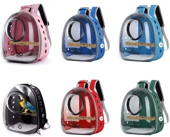 Shiningirl Pet Parrot Backpack