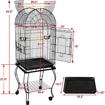Super Deal 63-in Rolling Bird Cage