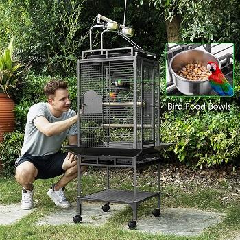 Vivohome Wrought Iron Bird Cage