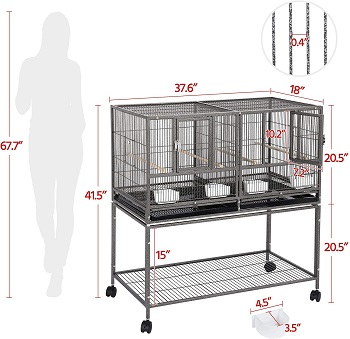 Yaheetech Pack Of 3 Breeding Cages