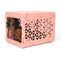 Pawd Plastic Dog Crate Pink Summary