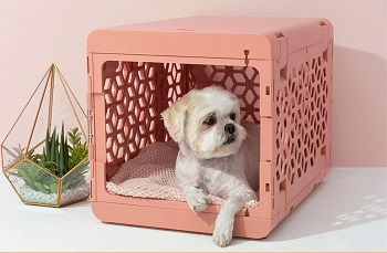 Pawd Plastic Dog Crate Pink