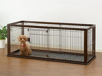 richell expandable puppy crate